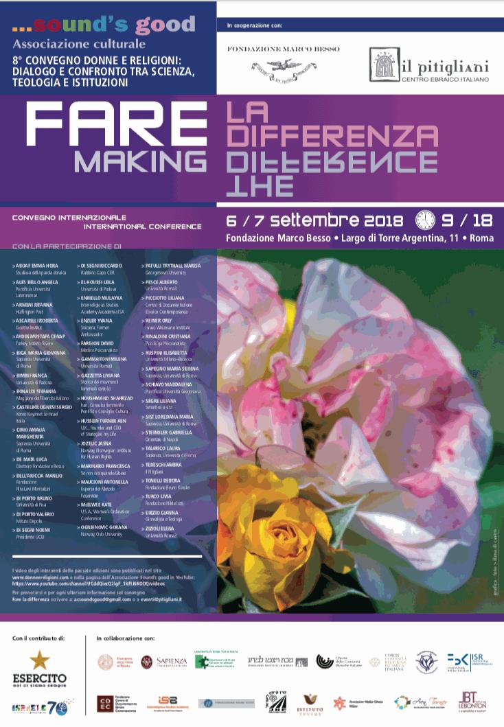Locandina del Convegno FARE, Roma settembre 2018