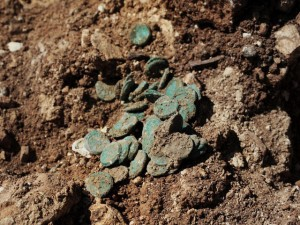The hoard as it was found in the excavation