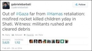 Tweet by Italian journalist Gabriele Barbati
