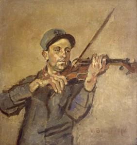 Vittorio Bolaffio - Il soldato violinista (1914) Museo Revoltella Trieste