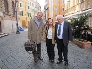 Israel Zamir Singer con figlio e Elèna Mortara, Roma 11-12