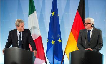 Berlino – Gentiloni e Steinmeier all'OSCE