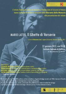 Invito Istituto Italiano di Cultura Varsavia