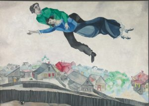 Marc-Chagall-Sulla-città-19141918-Galleria-Statale-Tret'jakov-di-Mosca-©-The-State-Tretyakov-Gallery-Moscow-Russia-©-Chagall-®-by-SIAE-2018