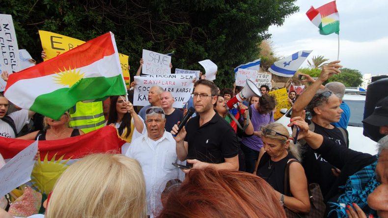 manifestazione curdi israele
