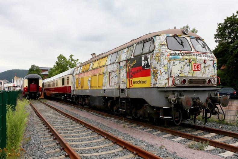 La locomotiva che le ferrovie tedesche hanno affidato al cantante rock